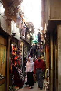 The narrow streets of Khan Al-Khalili - Cairo, Egypt ... November 21, 2006 ... Photo by Emily Conger