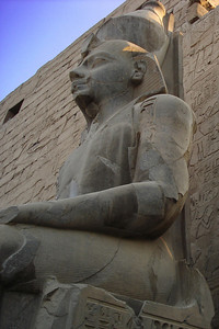 An ancient statue - Luxor, Egypt ... November 24, 2006 ... Photo by Emily Conger