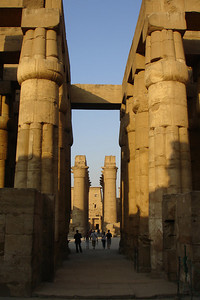 Looking through the hypostyle columns to the Processional colonnade built by Amenhotep III - Luxor, Egypt ... November 24, 2006 ... Photo by Rob Page III