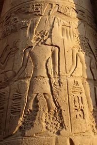 The hieroglyphics - Luxor, Egypt ... November 24, 2006 ... Photo by Emily Conger