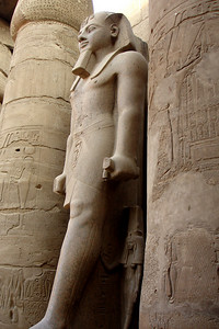 Ramesses II (?) looking out after 3400 years - Luxor, Egypt ... November 24, 2006 ... Photo by Rob Page III