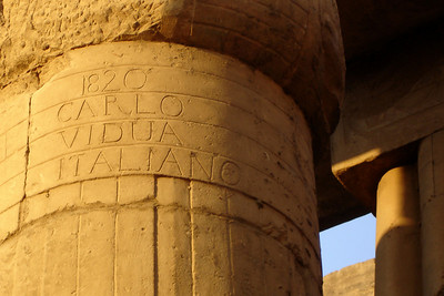 The explorers even left their eternal marks - Luxor, Egypt ... November 24, 2006 ... Photo by Rob Page III