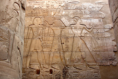 Heiroglyphics on the walls of the Luxor Temple - Luxor, Egypt ... November 24, 2006 ... Photo by Rob Page III