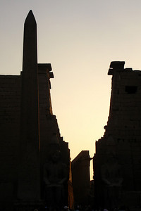Sunset at the Luxor Temple - Luxor, Egypt ... November 24, 2006 ... Photo by Rob Page III