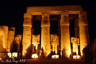 Statues in the peristyle courtyard - Luxor, Egypt ... November 24, 2006 ... Photo by Rob Page III