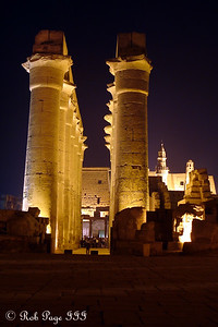 The processional colonnade built by Amenhotep III - Luxor, Egypt ... November 24, 2006 ... Photo by Rob Page III