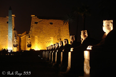 Looking down the Avenue of Sphinxes to the Luxor Temple - Luxor, Egypt ... November 24, 2006 ... Photo by Rob Page III