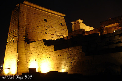The back of the first pylon at the Luxor Temple - Luxor, Egypt ... November 24, 2006 ... Photo by Rob Page III