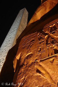 The Obelisk in front of the Luxor temple - Luxor, Egypt ... November 24, 2006 ... Photo by Emily Conger