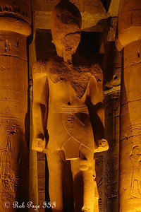 One of the statues inside the Luxor Temple - Luxor, Egypt ... November 24, 2006 ... Photo by Rob Page III