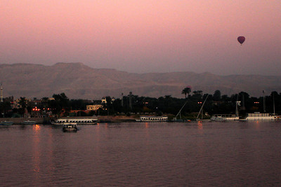Sunrise over the Nile - Luxor, Egypt ... November 25, 2006 ... Photo by Rob Page III