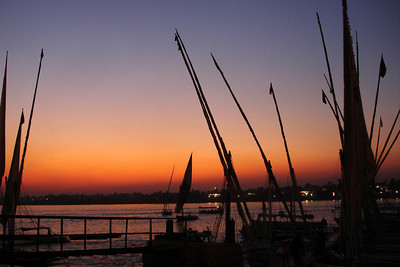A felucca cruise at sunset on the Nile - Luxor, Egypt ... November 24, 2006 ... Photo by Rob Page III