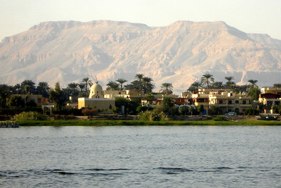 The West Bank of the Nile by the Valley of the Kings as seen from Luxor - Luxor, Egypt ... November 24, 2006 ... Photo by Rob Page III