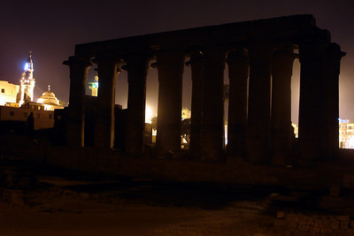 Luxor Temple at night - Luxor, Egypt ... November 23, 2006 ... Photo by Rob Page III