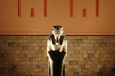 In front of the Luxor Museum - Luxor, Egypt ... November 23, 2006 ... Photo by Rob Page III