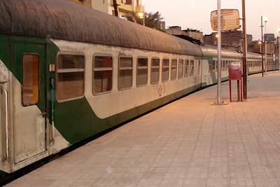 The overnight train departs Luxor station for Aswan as we disembark - Valley of the Kings, Egypt ... November 23, 2006 ... Photo by Rob Page III