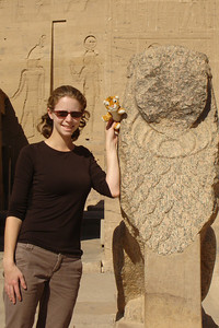 Emily and Tora enjoying the island of Philae - Aswan, Egypt ... November 25, 2006 ... Photo by Rob Page III