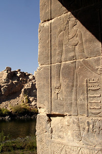 Hieroglyphics on the island of Philae - Aswan, Egypt ... November 25, 2006 ... Photo by Emily Conger