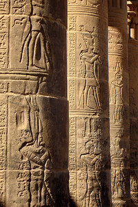 The highly intricate column of Philae - Aswan, Egypt ... November 25, 2006 ... Photo by Rob Page III