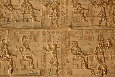Hieroglyphics on the island of Philae - Aswan, Egypt ... November 25, 2006 ... Photo by Rob Page III