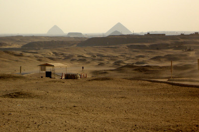 Looking across the Egyptian desert - Saqqara, Egypt ... November 28, 2006 ... Photo by Rob Page III