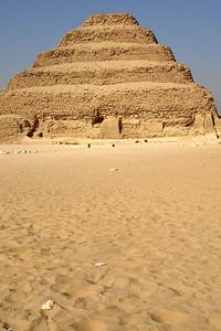 The stepped Pyramid of Zoser - Saqqara, Egypt ... November 28, 2006 ... Photo by Emily Conger