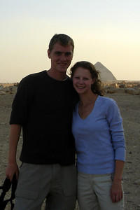 Rob and Emily with the Bent Pyramid in the background - Dashur, Egypt ... November 28, 2006 ... Photo by Rob Page III