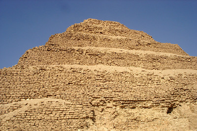The stepped-pyramid of Zoser - Saqqara, Egypt ... November 28, 2006 ... Photo by Emily Conger