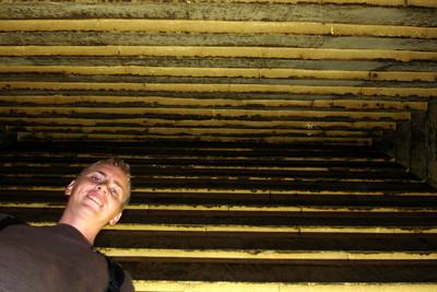 Rob inside the Red Pyramid - Dashur, Egypt ... November 28, 2006 ... Photo by Rob Page III