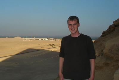 Rob on the Red Pyramid - Saqqara, Egypt ... November 28, 2006 ... Photo by Emily Conger