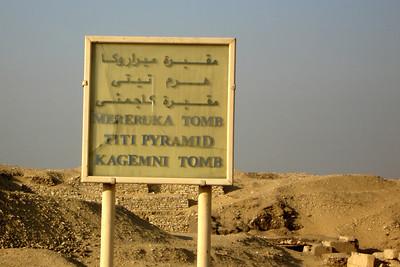 Visiting the tombs - Saqqara, Egypt ... November 28, 2006 ... Photo by Rob Page III