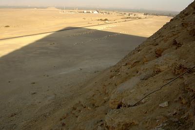 The shadow from the Red Pyramid - Dashur, Egypt ... November 28, 2006 ... Photo by Rob Page III