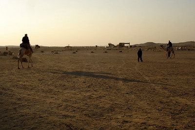 The guards rounding us up and telling us to leave - Saqqara, Egypt ... November 28, 2006 ... Photo by Emily Conger