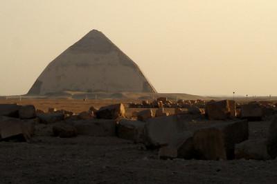 The Bent Pyramid - Saqqara, Egypt ... November 28, 2006 ... Photo by Emily Conger
