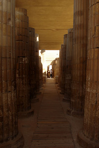 Walking into Zoser - Saqqara, Egypt ... November 28, 2006 ... Photo by Emily Conger