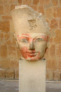 A broken replica of Hatshepsut.  Hatshepsut was the fifth pharaoh of the Eighteenth dynasty of ancient Egypt - Valley of the Kings, Egypt ... November 23, 2006 ... Photo by Rob Page III