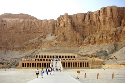 The temple of Hatshepsut.  Hatshepsut was the fifth pharaoh of the Eighteenth dynasty of ancient Egypt - Valley of the Kings, Egypt ... November 23, 2006 ... Photo by Rob Page III