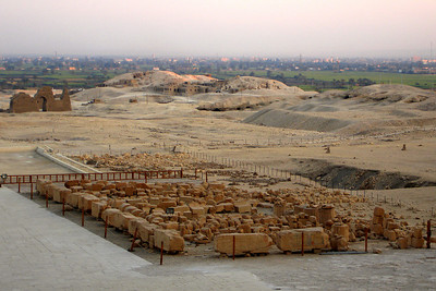 Looking out at Deir al-Bahri and Luxor in the background - Valley of the Kings, Egypt ... November 23, 2006 ... Photo by Rob Page III