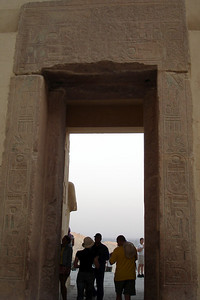 Entry to the temple at Deir el-Bahri - Valley of the Kings, Egypt ... November 23, 2006 ... Photo by Emily Conger