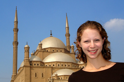 Emily and the Mosque of Mohammad Ali - Cairo, Egypt ... November 22, 2006 ... Photo by Rob Page III
