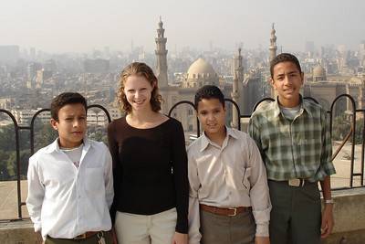 Emily made some friends at the Mosque of Mohammed Ali - Cairo, Egypt ... November 22, 2006 ... Photo by Rob Page III