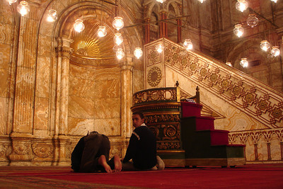 Inside the Mosque of Mohammad Ali - Cairo, Egypt ... November 22, 2006 ... Photo by Rob Page III