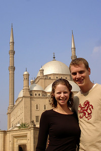 Emily and Rob at he Mosque of Mohammad Ali - Cairo, Egypt ... November 22, 2006