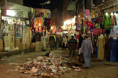 Part of the Egyptian market at night - Cairo, Egypt ... November 21, 2006 ... Photo by Rob Page III