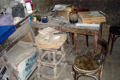 A work bench for mother-of-pearl - Cairo, Egypt ... November 21, 2006 ... Photo by Emily Conger