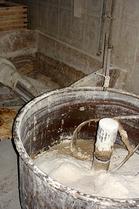 Beating the dough and mixing the ingredients - Cairo, Egypt ... November 21, 2006 ... Photo by Rob Page III