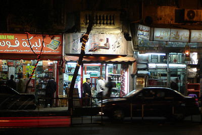 The city stays alive at night - Cairo, Egypt ... November 21, 2006 ... Photo by Rob Page III