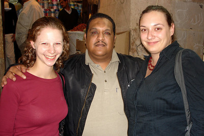 Emily, Natalie, and our guide for the Egyptian market - Cairo, Egypt ... November 21, 2006 ... Photo by Rob Page III