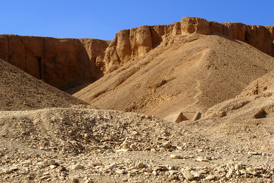 The bluffs that make up the Valley of the Kings - Valley of the Kings, Egypt ... November 23, 2006 ... Photo by Rob Page III