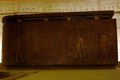 The sarcophagus  of Tuthmosis III - Valley of the Kings, Egypt ... November 23, 2006 ... Photo by Rob Page III